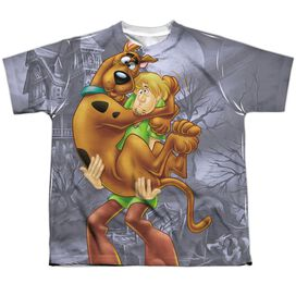 Scooby Doo Scooby And Shaggy Short Sleeve Youth Poly Crew T-Shirt