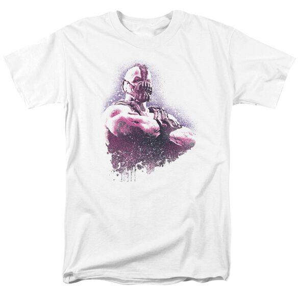Dark Knight Rises Spray Bane Short Sleeve Adult White T-Shirt