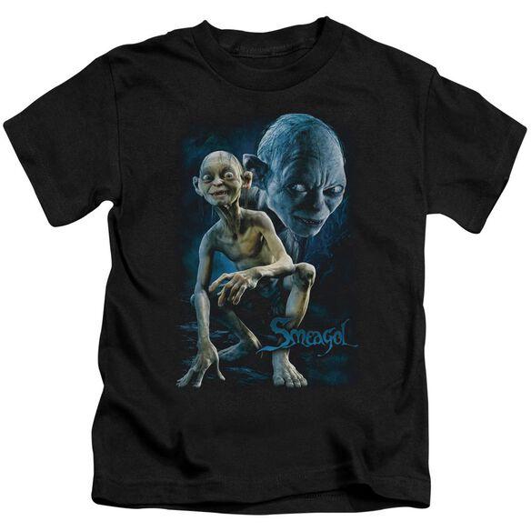 Lor Smeagol Short Sleeve Juvenile Black T-Shirt