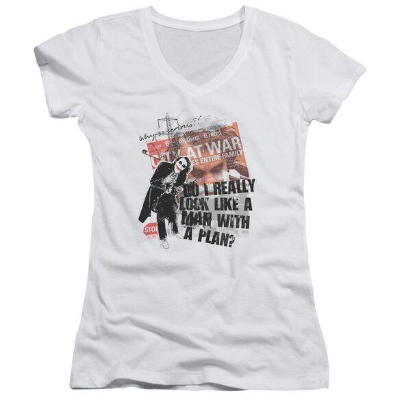 Dark Knight Spontaneous Junior V Neck T-Shirt