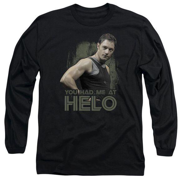 Bsg Had Me At Helo Long Sleeve Adult T-Shirt