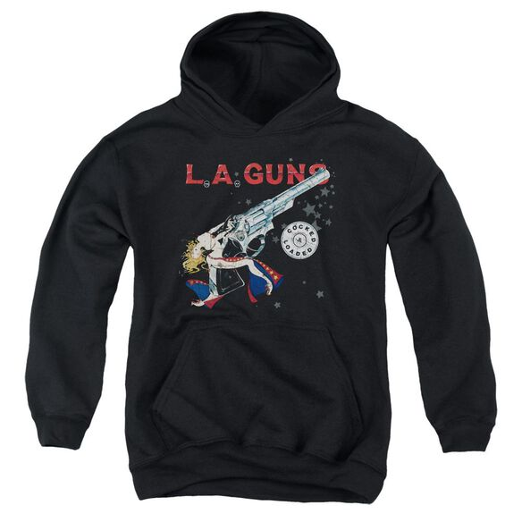 La Guns Cocked And Loaded Youth Pull Over Hoodie