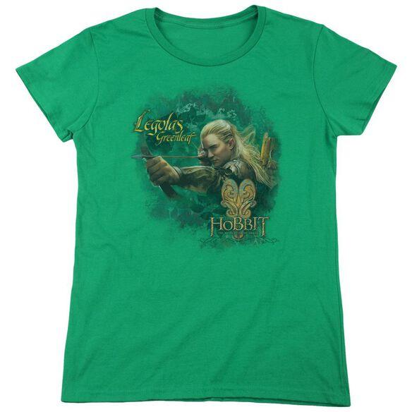 Hobbit Greenleaf Short Sleeve Womens Tee Kelly T-Shirt