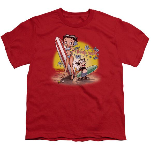 Betty Boop Surf Short Sleeve Youth T-Shirt