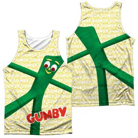 Gumby Stretched (Front Back Print) Adult 100% Poly Tank Top