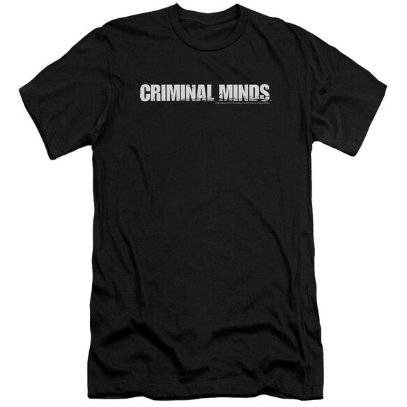Criminal Minds Logo-premuim Canvas Adult Slim