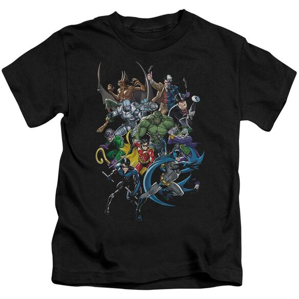 Batman Saints And Psychos Short Sleeve Juvenile Black Md T-Shirt