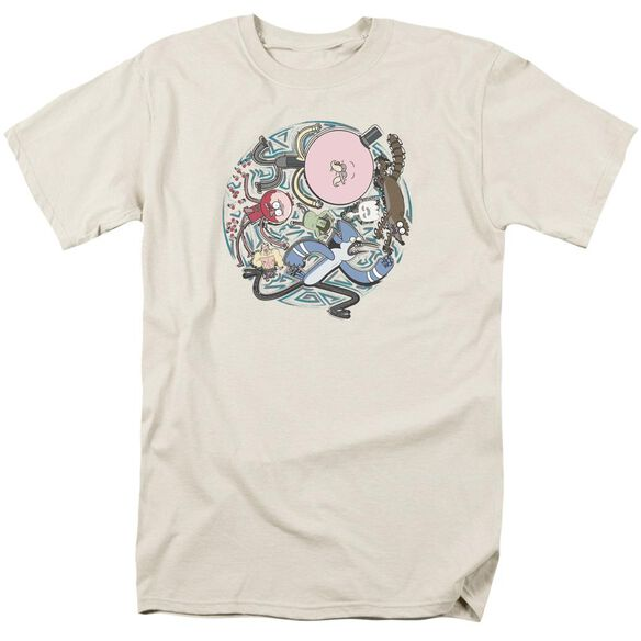 Regular Show Strange Circle Short Sleeve Adult Cream T-Shirt