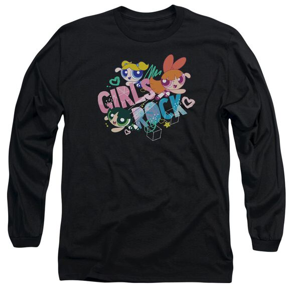 Powerpuff Girls Girls Rock Long Sleeve Adult T-Shirt