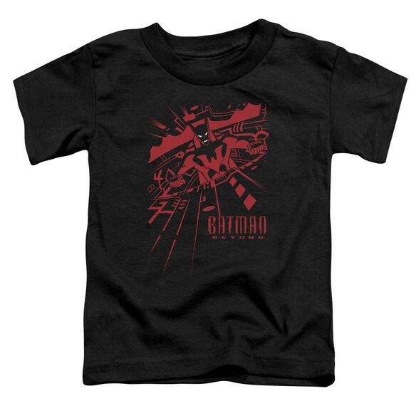 Batman Beyond At The Controls Short Sleeve Toddler Tee Black T-Shirt