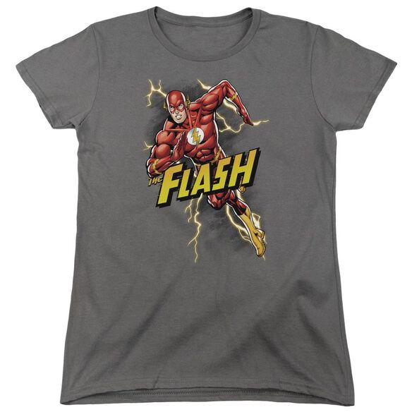 Jla Bolt Run Short Sleeve Womens Tee T-Shirt
