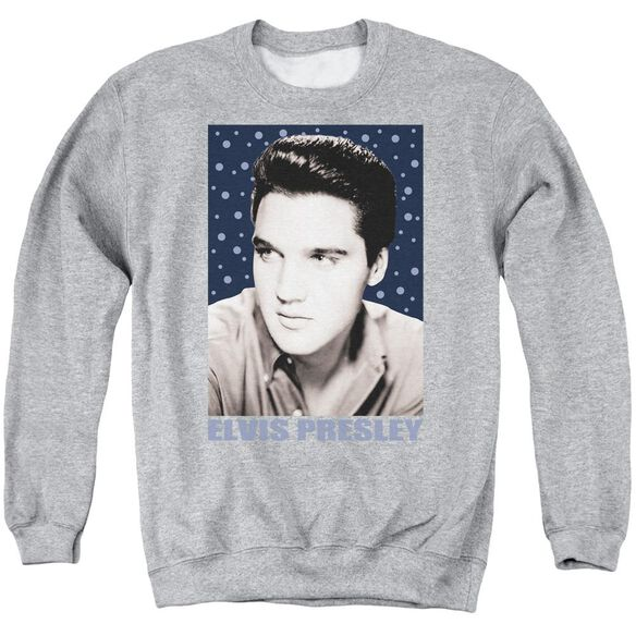 Elvis Blue Sparkle Adult Crewneck Sweatshirt Athletic