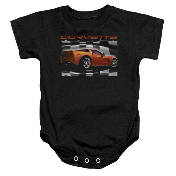 Chevrolet Orange Z06 Vette Infant Snapsuit Black