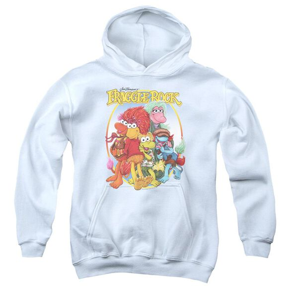 Fraggle Rock Group Hug Youth Pull Over Hoodie