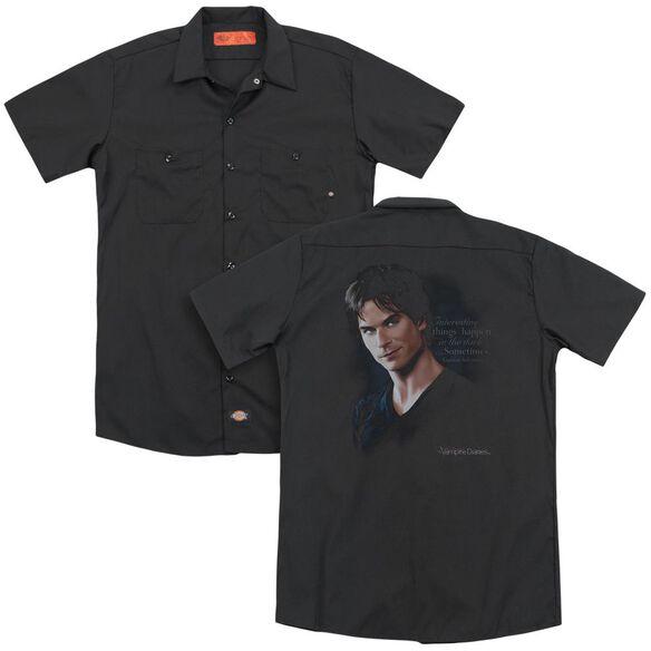 Vampire Diaries Sometimes (Back Print) Adult Work Shirt