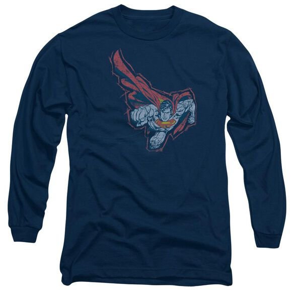 Superman Scribble & Soar Long Sleeve Adult T-Shirt
