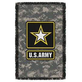 Army Patch Woven Throw