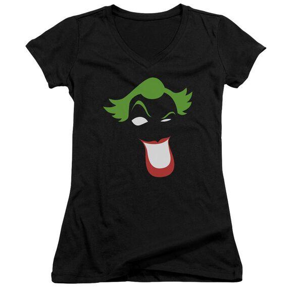 Batman Joker Simplified Junior V Neck T-Shirt