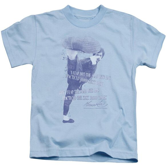 Bruce Lee 10,000 Kicks Short Sleeve Juvenile Light Blue Md T-Shirt