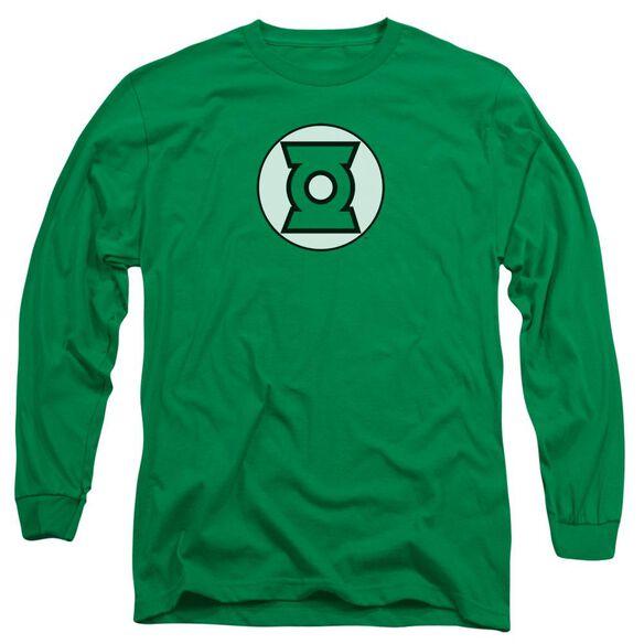 Jla Lantern Logo Long Sleeve Adult Kelly T-Shirt