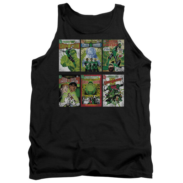 Green Lantern Gl Covers - Adult Tank - Black