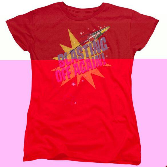 Astro Pop Blast Off Short Sleeve Womens Tee T-Shirt