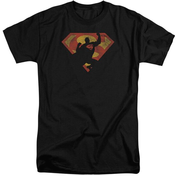 Superman S Shield Knockout Short Sleeve Adult Tall T-Shirt