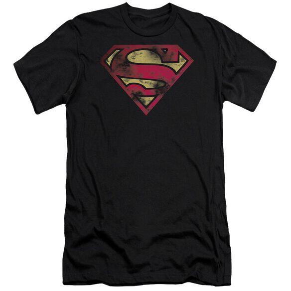 Superman War Torn Logo Short Sleeve Adult T-Shirt