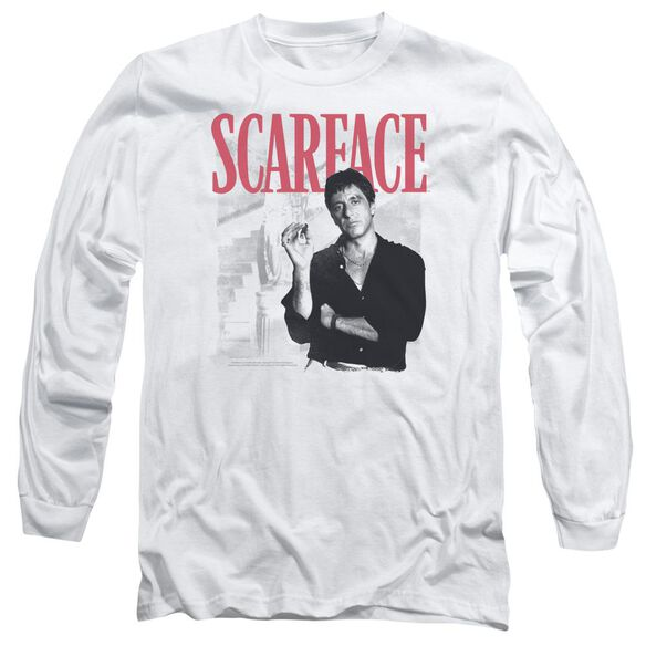 Scarface Stairway Long Sleeve Adult T-Shirt
