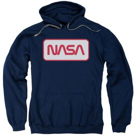 Nasa Rectangular Logo Adult Pull Over Hoodie