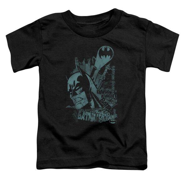 Batman Gritted Teeth Short Sleeve Toddler Tee Black Lg T-Shirt