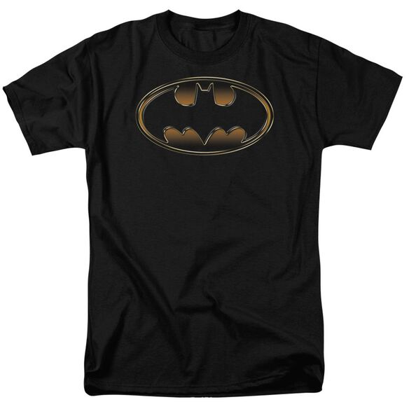Batman & Gold Embossed Short Sleeve Adult T-Shirt