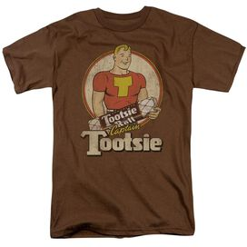 Tootsie Roll Captain Tootsie Short Sleeve Adult Coffee T-Shirt