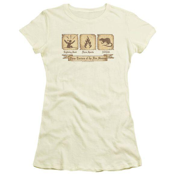 Princess Bride Three Terrors Short Sleeve Junior Sheer T-Shirt