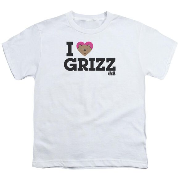 We Bare Bears Heart Grizz Short Sleeve Youth T-Shirt