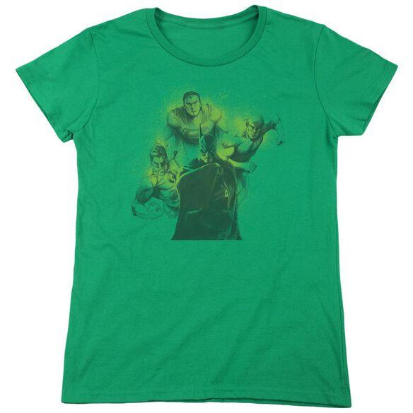 Dco Spray Sketch League Short Sleeve Women's Tee Kelly T-Shirt