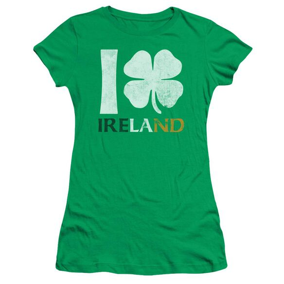 I Love Ireland Short Sleeve Junior Sheer Kelly T-Shirt
