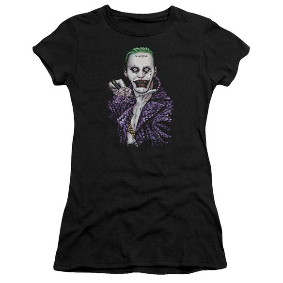 Suicide Squad Blade Short Sleeve Junior Sheer T-Shirt