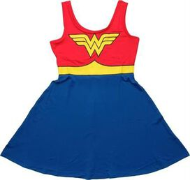 Wonder Woman Costume A Line Scoop Neck Dress