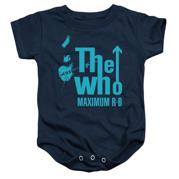 The Who Maximum R&B Infant Snapsuit Navy