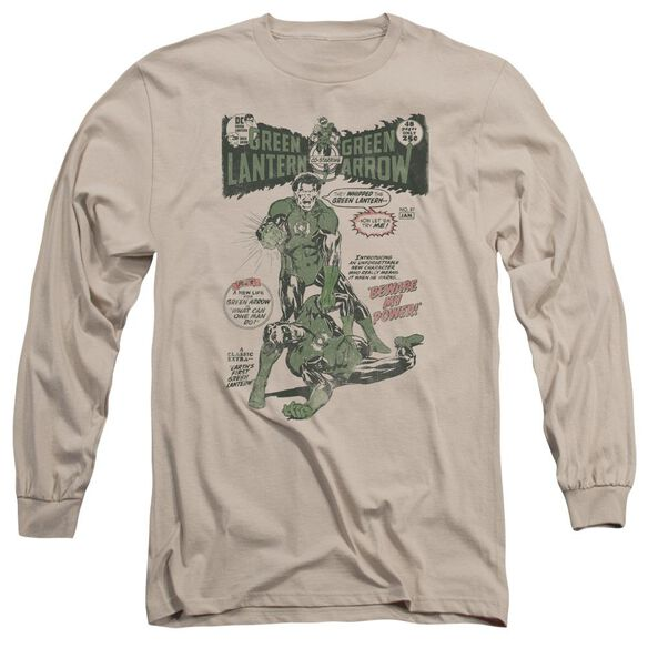 Green Lantern Beware My Power Long Sleeve Adult T-Shirt