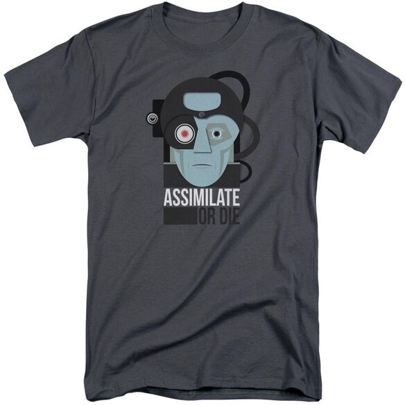 Star Trek Assismilate Or Die Short Sleeve Adult Tall T-Shirt