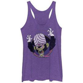 Powerpuff Girls Mojo Circle Tank Juniors T-Shirt