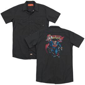 Superman Old Man Kal (Back Print) Adult Work Shirt