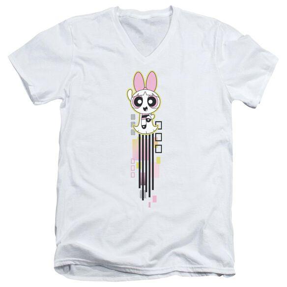 Powerpuff Girls Blossom Streak Short Sleeve Adult V Neck T-Shirt