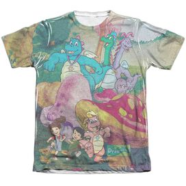 Dragon Tales Mushroom Meadow Adult Poly Cotton Short Sleeve Tee T-Shirt