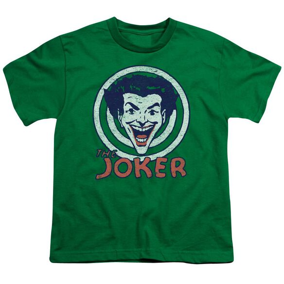 Dc Joke Target Short Sleeve Youth Kelly T-Shirt