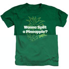 PSYCH PINEAPPLE SPLIT - S/S JUVENILE 18/1 - KELLY GREEN - T-Shirt