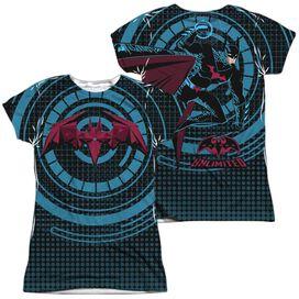 Batman Unlimited Bat Tech (Front Back Print) Short Sleeve Junior Poly Crew T-Shirt