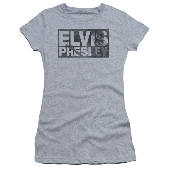Elvis Block Letters Short Sleeve Junior Sheer Athletic T-Shirt